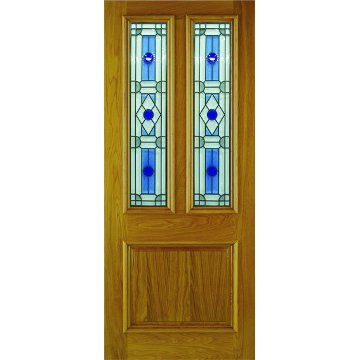 Incroyable Image Of Part L London Sapphire Oak Door   Bevel And Blue Style Tri Glazing