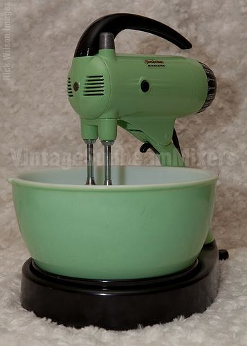 Vintage Sunbeam Mixers Mixmaster Green A 9b B Vintage
