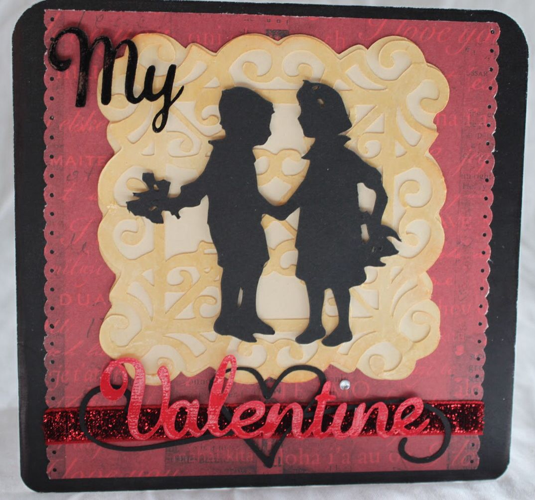Handmade Valentine S Day Card Made With The Cricut A Child S