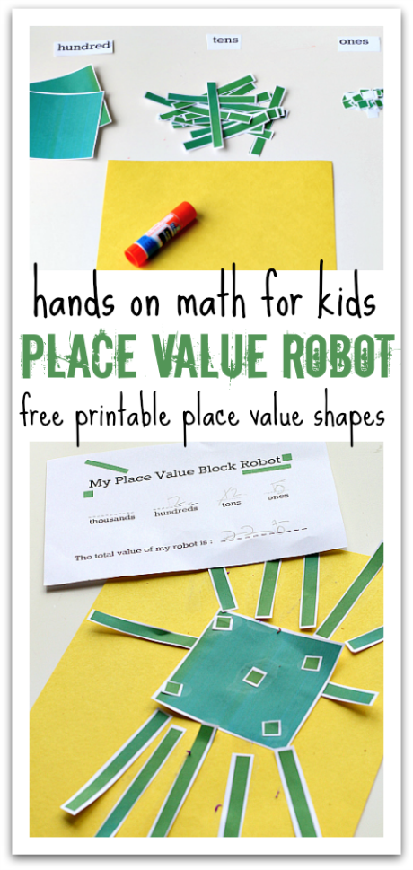 Place Value Robot - Math Activity | Make a robot, For kids and Decimal