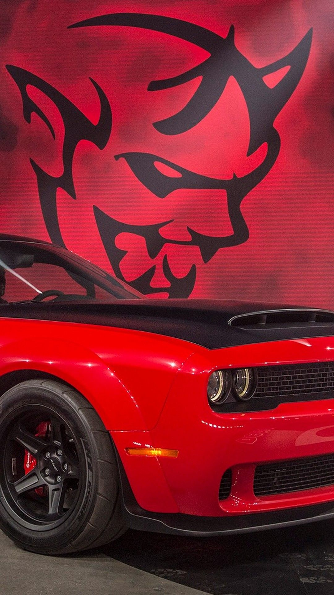 2018 Dodge Demon Iphone Wallpaper Iphonewallpapers Pinterest