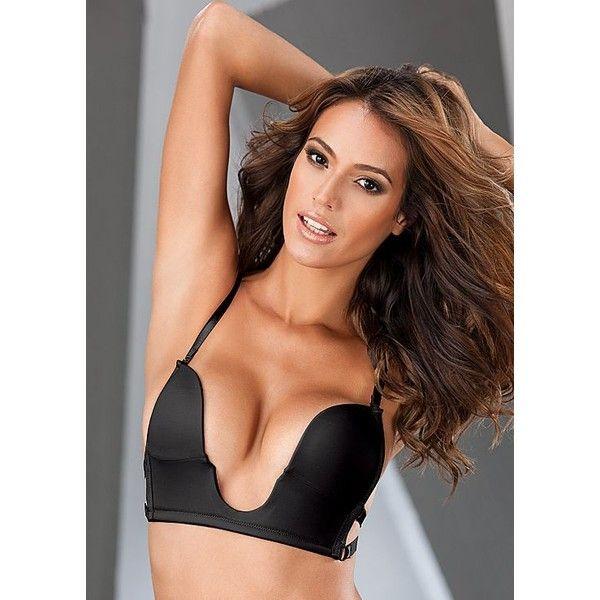 Women Deep U Multi-Way Convertible Plunge Bra Criss Cross Low Back Halter Bras