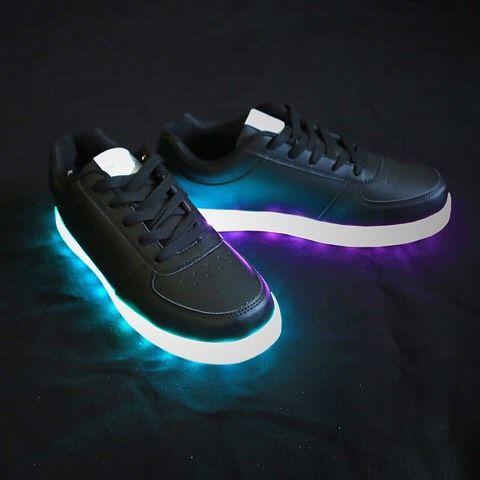 Black LED Shoes | Light up shoes, Shoes, Crazy shoes