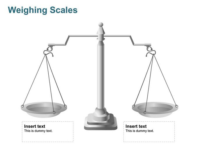Editable PowerPoint Template Weighing Scales - Business Analogy
