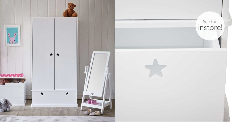 8993fa3b1ff9 Star Bright Wardrobe | Olivia's Bedroom | Girls bedroom, Stars ...