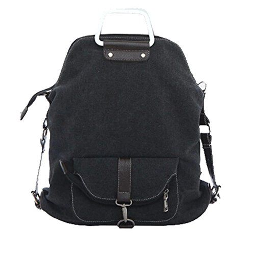 5990168144 Smartstar Cute Womens Bag Vintage Canvas Satchel Backpack Shoulder Bag  Black    More info could be found at the image url.