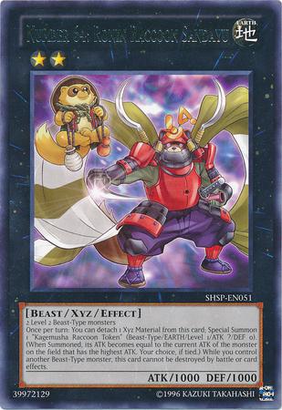 NUMBER 64: Ronin Raccoon Sandayu XYZ YUGIOH CARD | Numéro et xyz