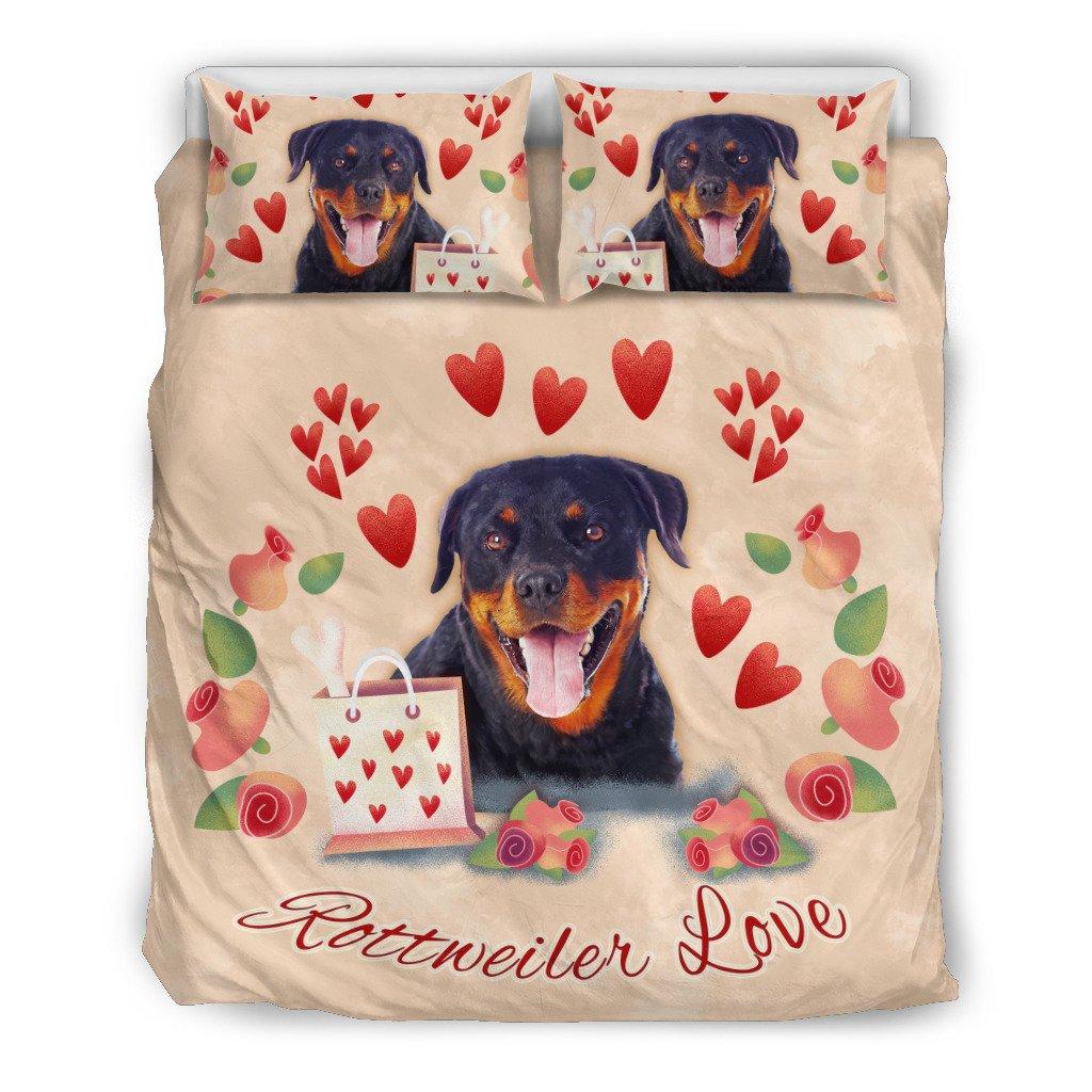 Rottweiler Love Duvet Cover Bedding Bedding Set Us California