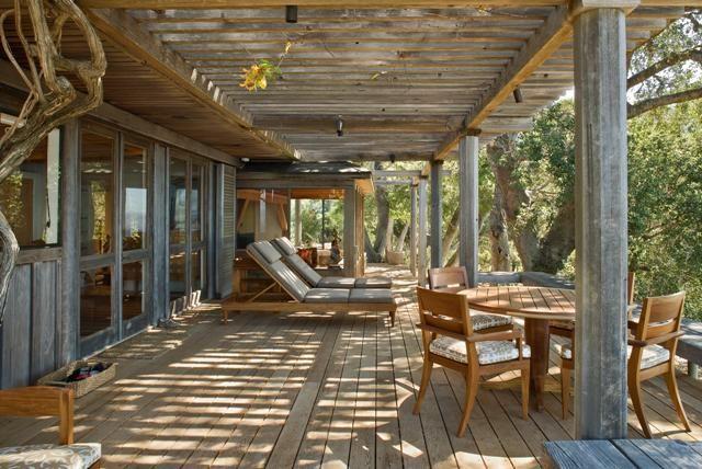 Grande Terrasse Couverte En Bois  Exactement Mon Rve  Pool House