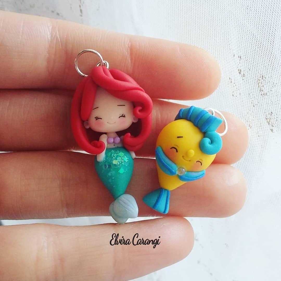 Ariel Mermaid Polymer Clay Model Polymer Clay Crafts Cute