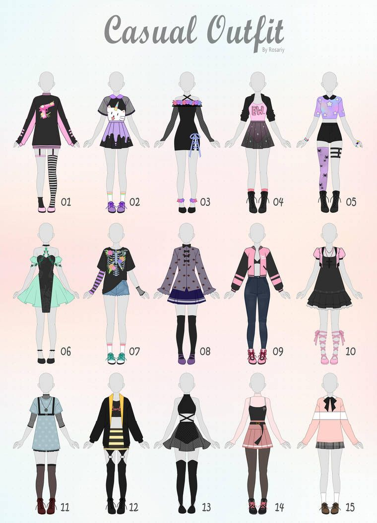 (CLOSED) CASUAL Outfit Adopts 31 by Rosariy on DeviantArt #clothesdrawing