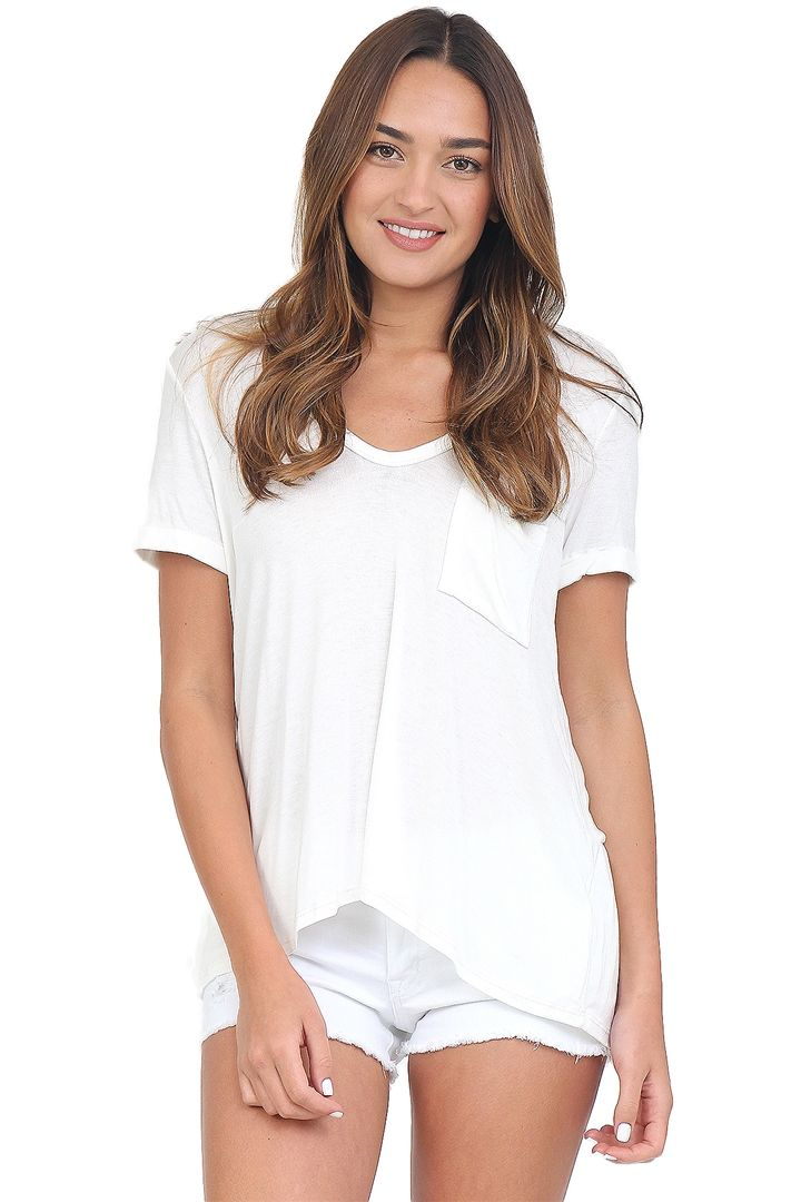 Ivory Cold Shoulder Top at Blush Boutique Miami