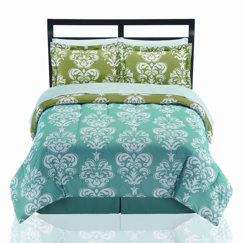 The Big One 6-pc. Madison Damask Bed Set $48 Brighten your bedding collection with The Big One Madison bed set. The bold colors and damask floral and scroll pattern will stand out in your home or dorm decor. This bedding set is full of fashion. In teal/multi.