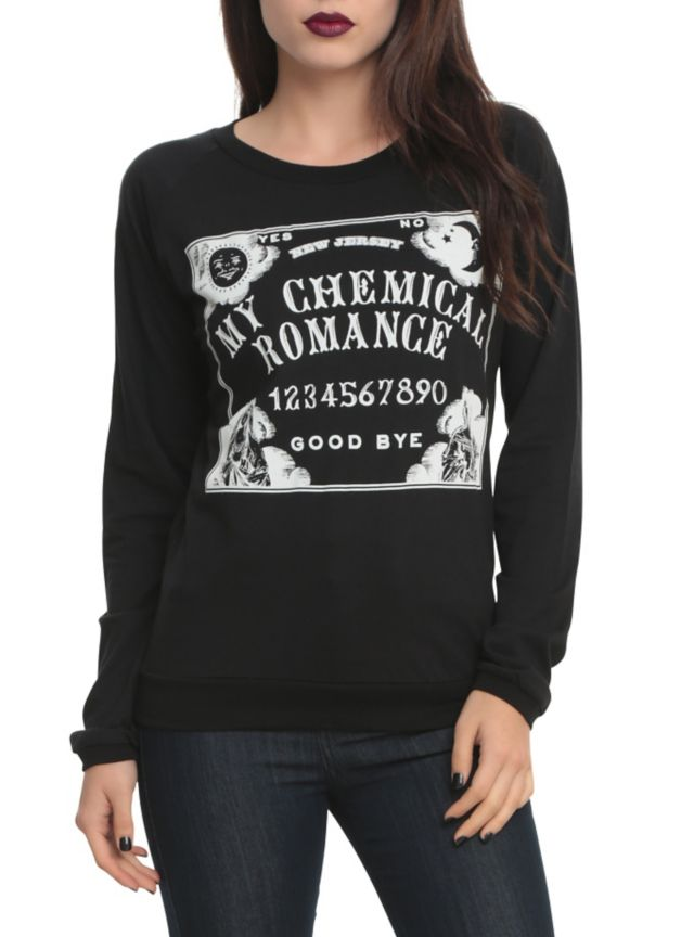 Black Pullover Top From My Chemical Romance With A Spirit Board