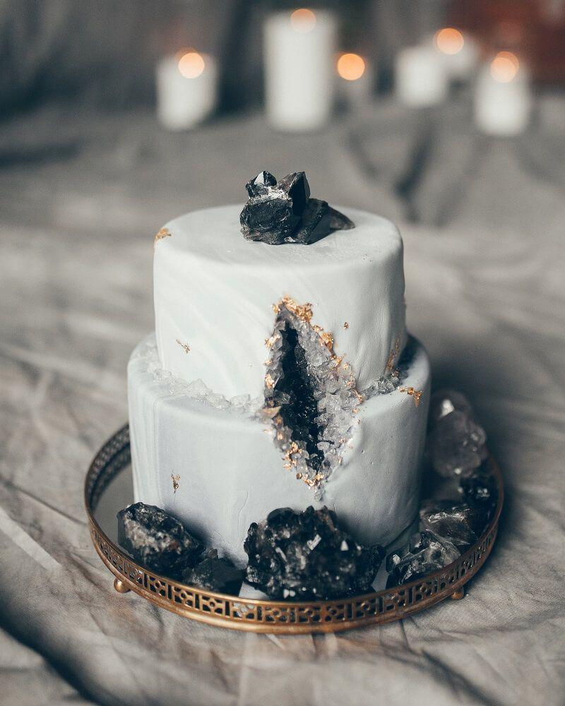 Rock Chic Hochzeitsinspirationen In Grau Und Schwarz Einzigartige