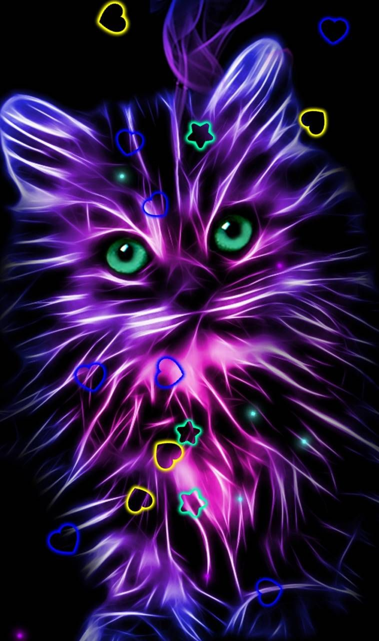Download Neon Kitty Wallpaper By Randy03p 6f Free On Zedge Now Browse Millions Of Popular Elegance Wa Kitty Wallpaper Sparkle Wallpaper Unicorn Wallpaper