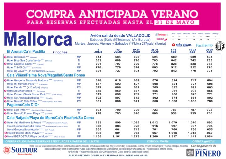 Hasta 30% Compra Anticipada. Hoteles en Mallorca salidas desde Valladolid ultimo minuto - http://zocotours.com/hasta-30-compra-anticipada-hoteles-en-mallorca-salidas-desde-valladolid-ultimo-minuto-3/