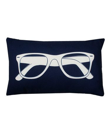 Look what I found on #zulily! Peacoat Navy Classic Sunglasses Pillow #zulilyfinds #thro #throbyml #marlolorenz #pillows #collection #style #fashion #nook #snuggle #cozy #blanket #quatrefoil #homedecor #home #decor #like #follow #share #spread #love #shop #sunglasses