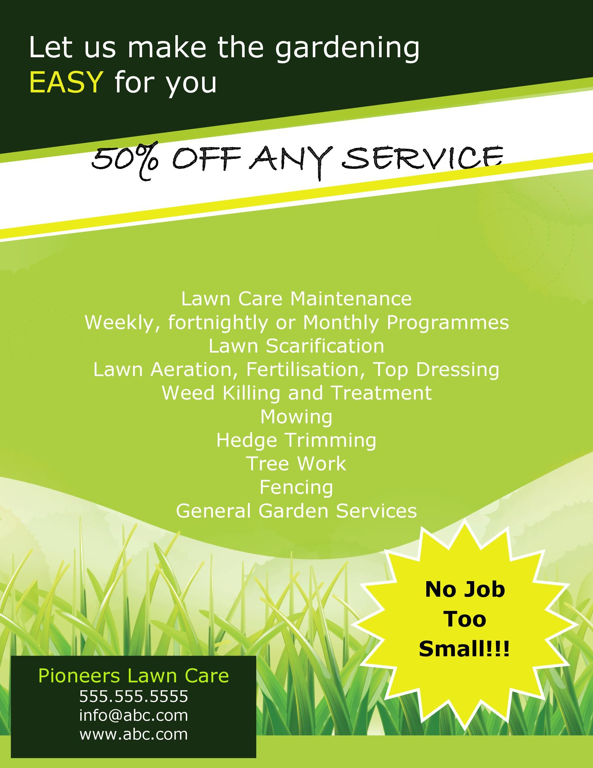 Lawn Care Flyer Template Lawn Care Flyers Lawn Care Lawn