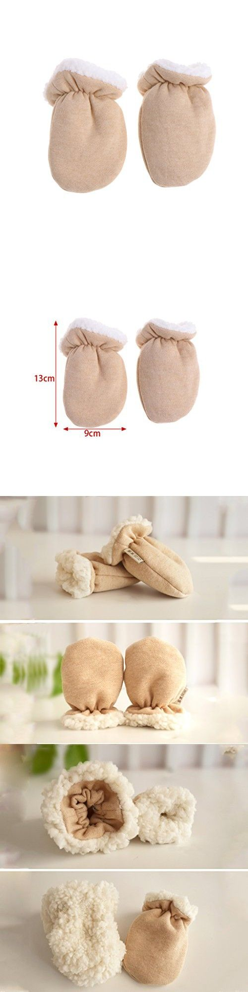 ed9d7e58e OTGO Cute Cartoon Thicken Warm Fleece Infant Baby Winter Warm Gloves ...