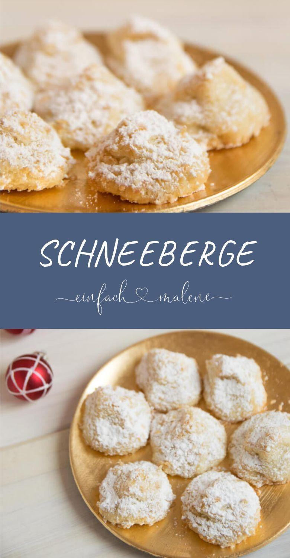 Schneeberge – Backen für Weihnachten geht in die nächste Runde. Weiße Weihnacht – zumindest auf dem Teller. Mit diesen zarten Schneebergen könnt i…