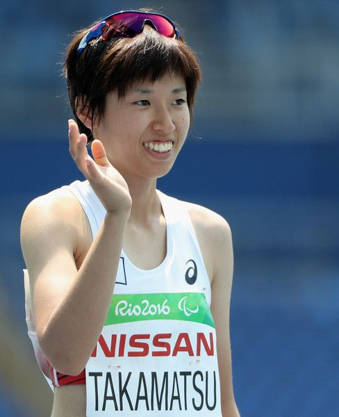 Yuka Takamatsu of Japan prepares to compete in the Women's 400m - T38 final on day 7 of the Rio 2016 Paralympic Games at the Olympic Stadium on September 14, 2016 in Rio de Janeiro, Brazil.