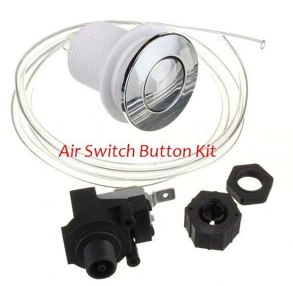 Massage Bathtub Air Switch Food Waste Disposer Switch Pneumatic Switch Waste Disposal Machine Switch For Spa Pump Garbage Disposal Air Hose Waste Disposal
