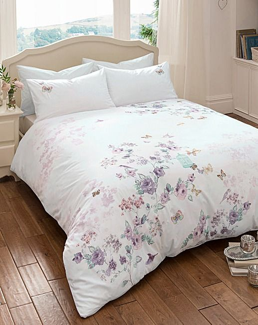 Songbirds Embroidered Duvet Cover Set | Home Essentials | Sweet ... : embroidered quilt covers - Adamdwight.com