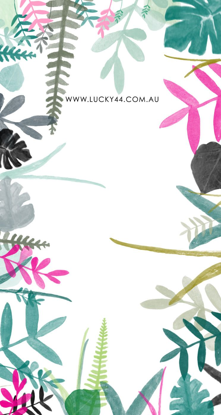 Wallpaper iphone tropical - Tropical Leaves Iphone Wallpaper Lucky44 Www Lucky44 Com Au
