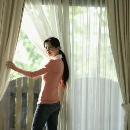 How To Hang Double Curtain Rods Double Curtains Double Rod Curtains Curtain Installation