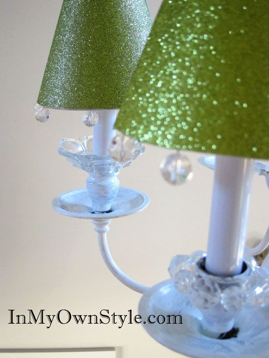 How to Make Chandelier Shade Covers Using Scrapbook Paper | In My Own Style