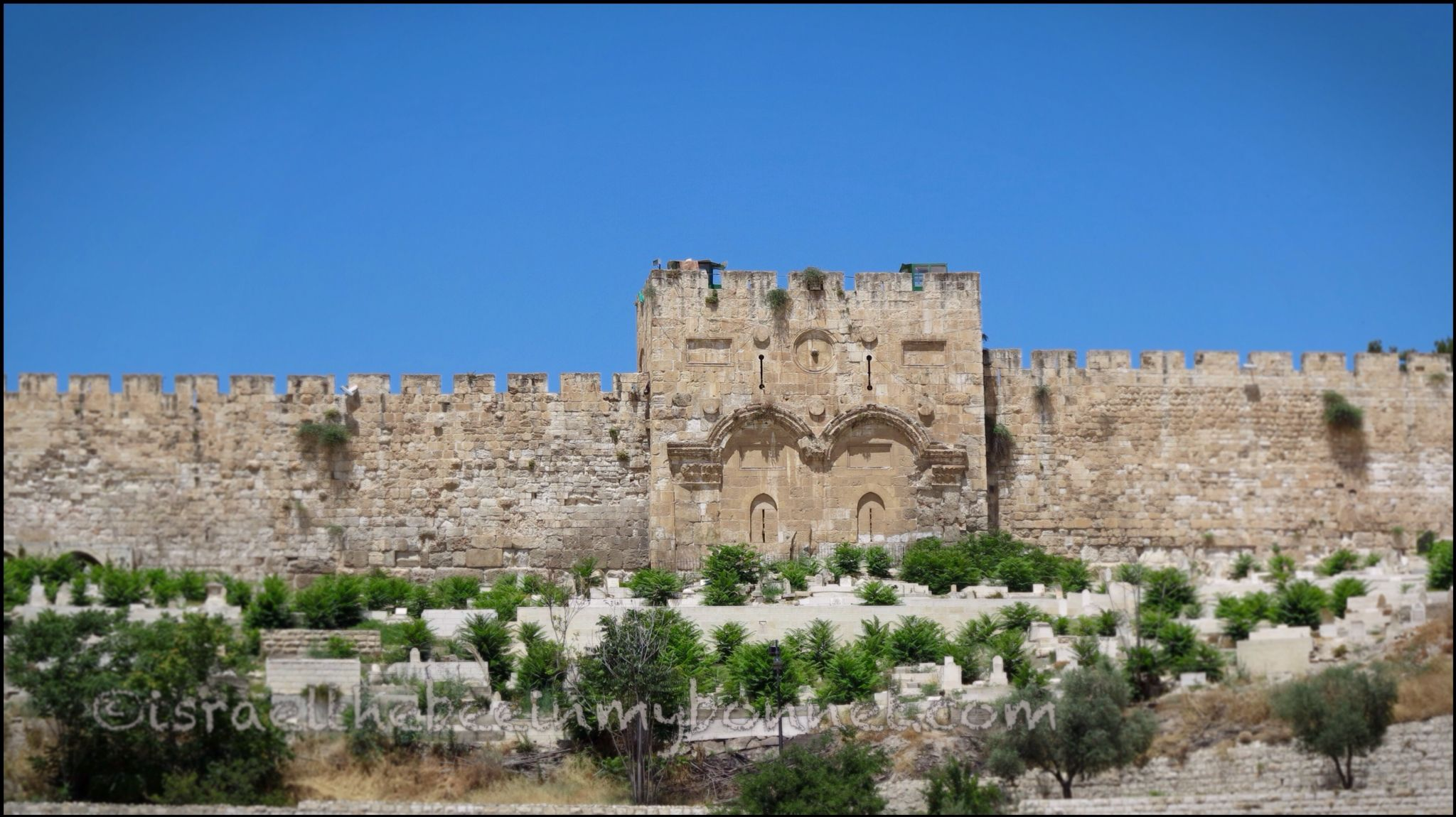 Golden Gate (Sha'ar HaRahamim in Hebrew - Gate of Mercy), Old City, #Jerusalem, #Israel.