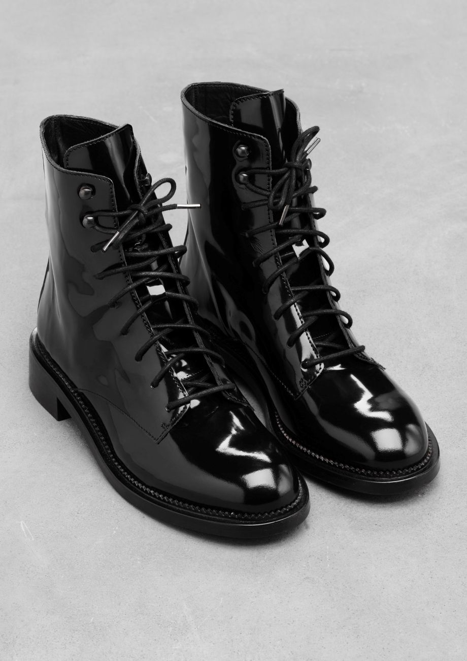 \u0026 Other Stories | Lace-Up Leather Boots