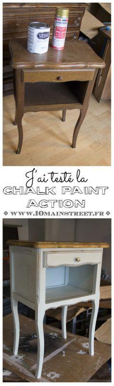 J Ai Teste La Chalk Paint Action Avec Images Relooking De Mobilier Mobilier De Salon Relooker Meuble