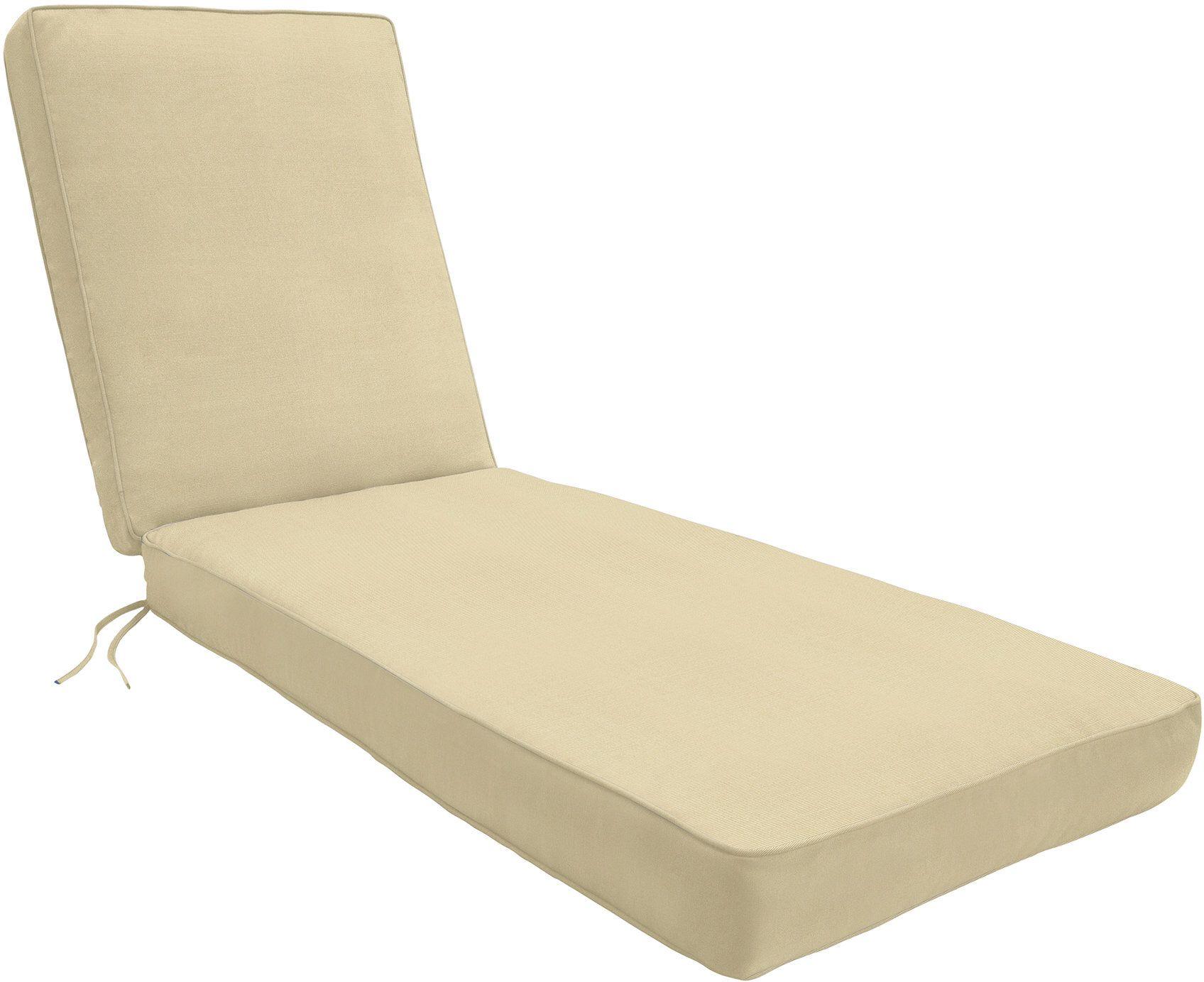 Indoor Outdoor Sunbrella Chaise Lounge Cushion Custom Outdoor