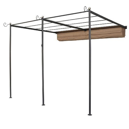 Bosmere PERWM1 Rowlinson St. Tropez Wall-Mounted Steel Sun Canopy with Retractable Fabric  sc 1 st  Pinterest : wall mounted canopy - memphite.com