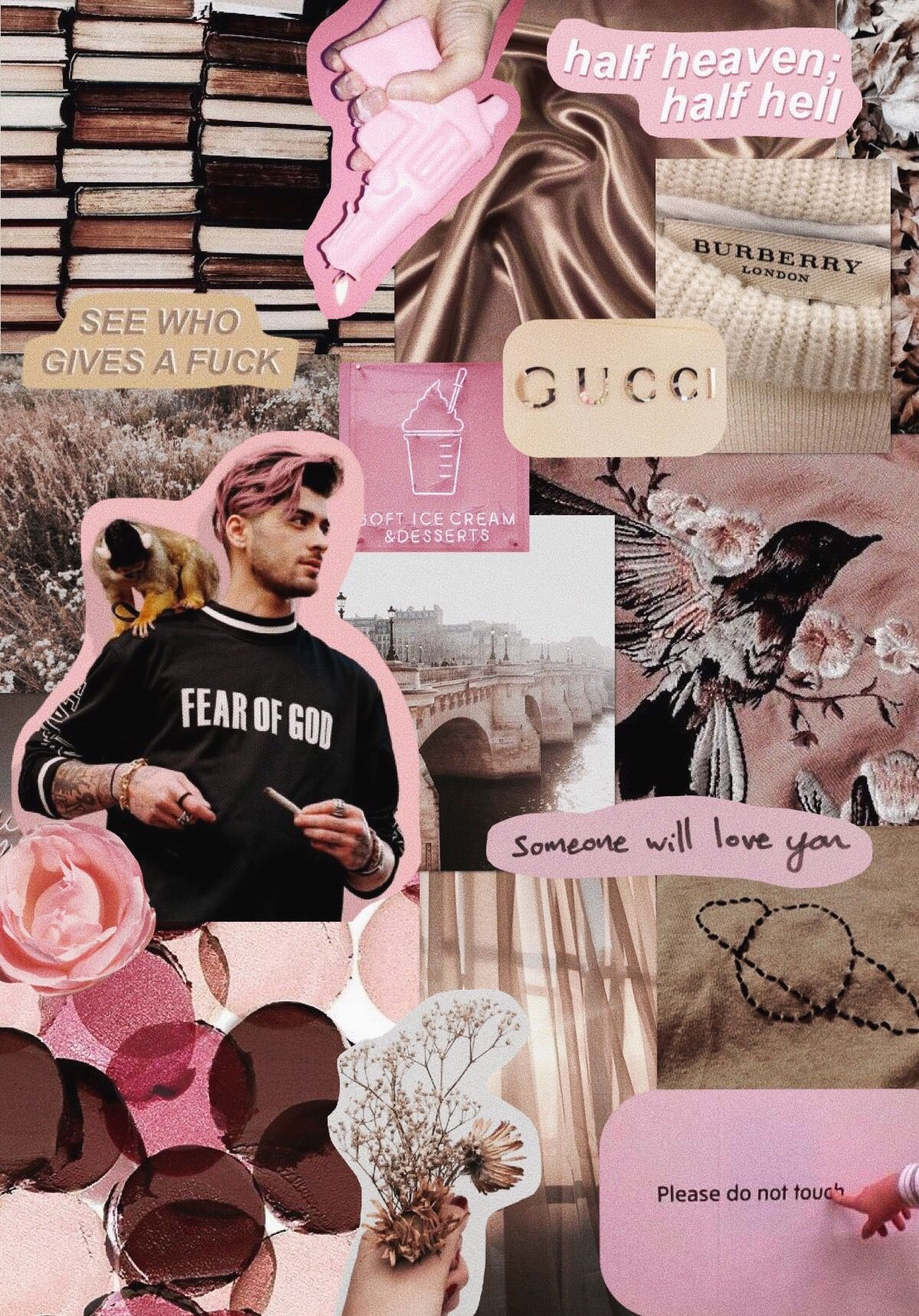 A Zayn Wallpaper For Y All Harrygoluckyy Zayn Zaynmalik Zaynaesthetic Aesthetic Zaynmalikaesthetic Brown Pink Brownaesthetic Pinkaesthetic On Suami