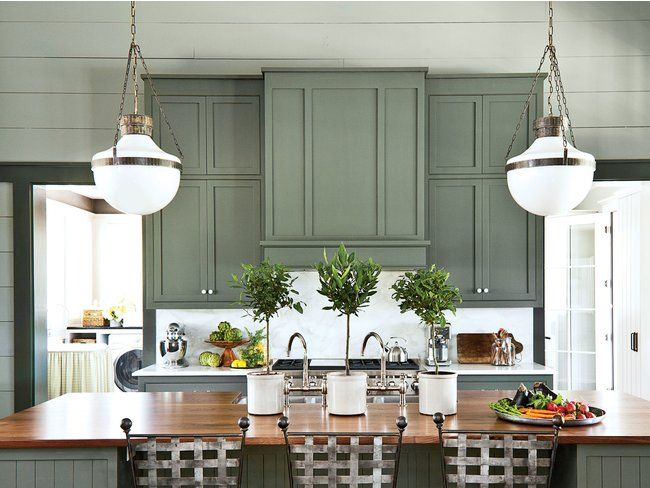 7 Paint Colors We're Loving for Kitchen Cabinets in 2020 -   17 sage green kitchen cabinets paint ideas