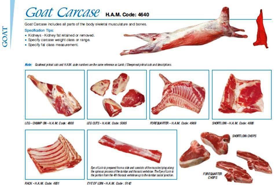Goat Meat Cuts