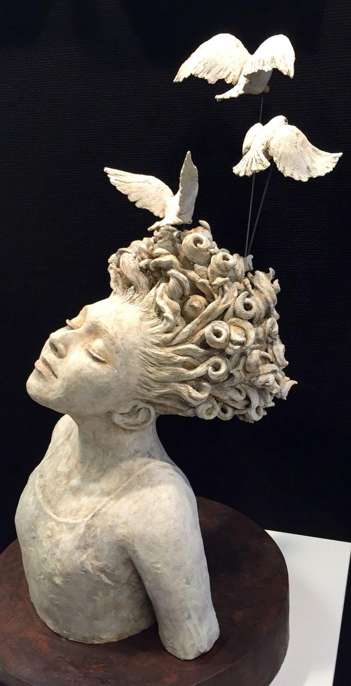 Little dreamer ceramic stoneware sculpture amanda robin