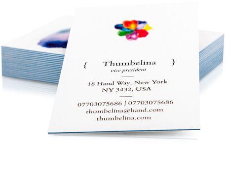 Luxe Visitenkarten Von Moo Premium Karten Mit Farbschnitt