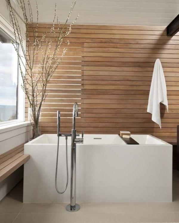 Elegant Verschönern Sie Ihre Wände Holz Badezimmer Idee
