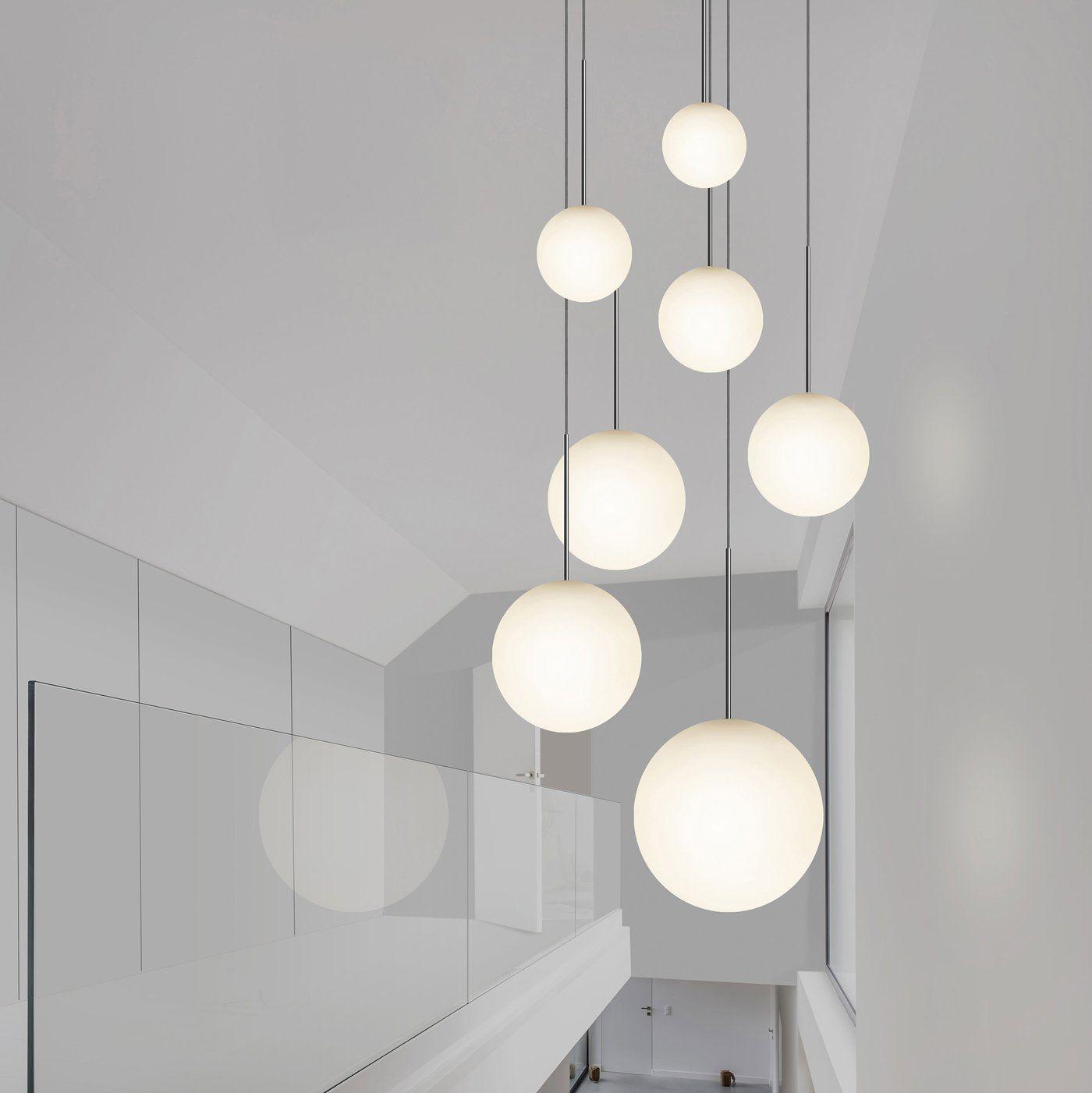 Bola Sphere Pendant In 2021 Multi Light Pendant Modern Chandeliers High Ceilings Globe Pendant Light