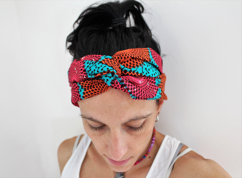 Headband coloré, accessoire cheveux, accessoire cheveux femme, headband  turban ethnique, bandeau pagne
