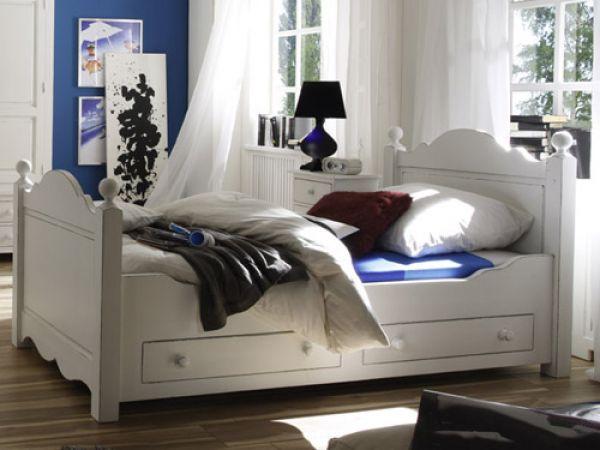 massives Schlafzimmer Möbel weiß Odette Bild 2 Schlafzimmer - landhaus schlafzimmer weiß