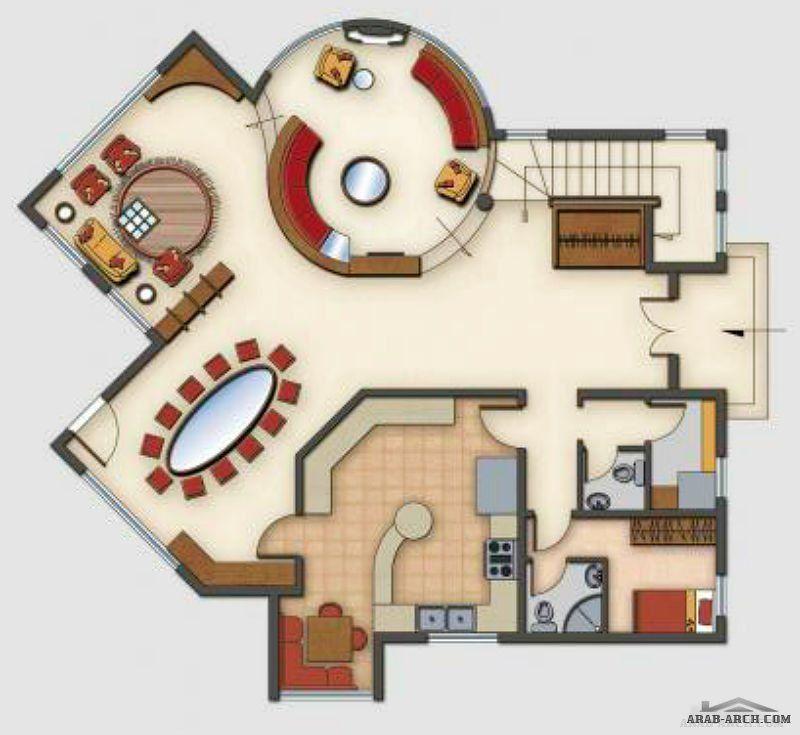 تصاميم فيلا ريف دمشق 3 طوابق Arab Arch House Designs Exterior Classic House Design My House Plans