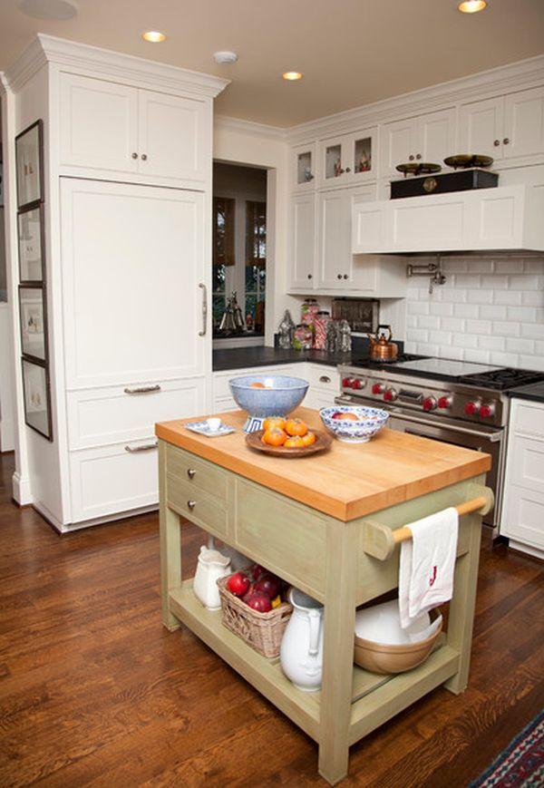 10 Small Kitchen Island Design Ideas Practical Furniture For Small Spaces Kitchen Island Furniture Small Space Kitchen Small Kitchen Island