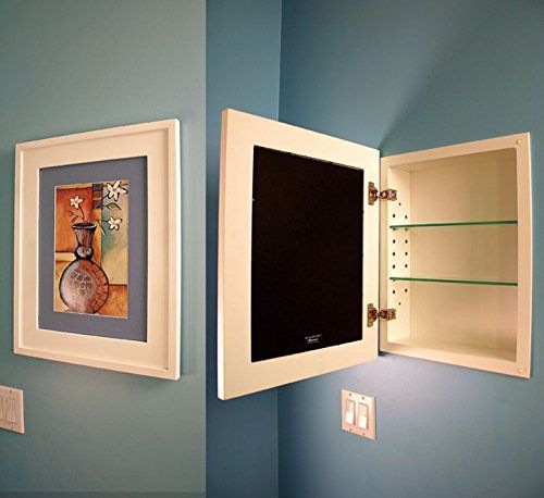 The Large White Concealed Medicine Cabinet 14x18 A Recessed Mirrorless With