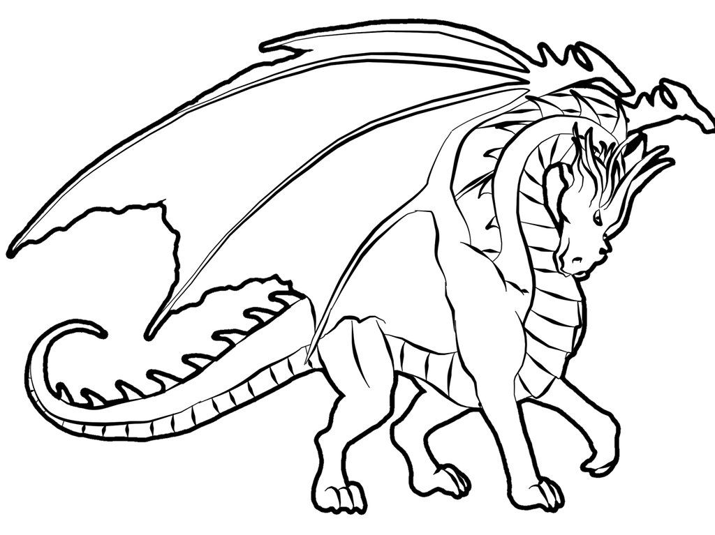 Free Printable Dragon Coloring Pages For Kids клипард
