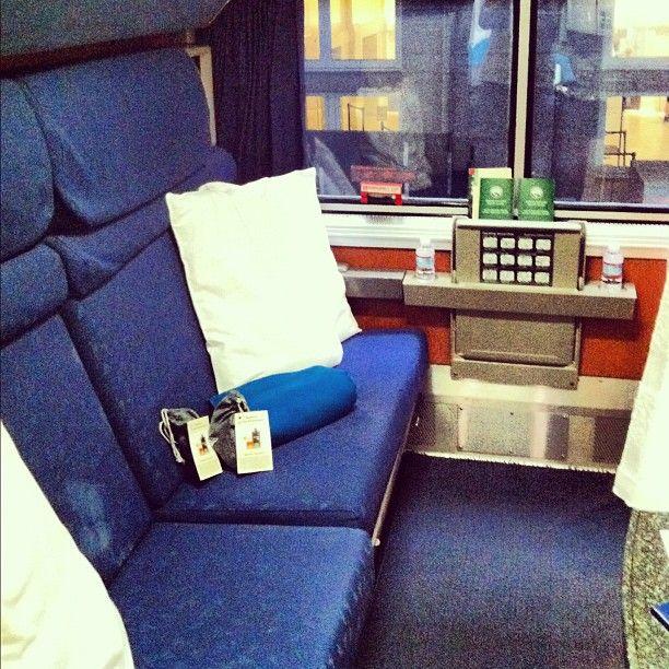 Our #cabin #sleeper On #amtrak #empirebuilder To #chicago